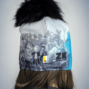 Rear view of the Hero Skate Beanie, This tuque was created in collaboration with Scorpion Masqué