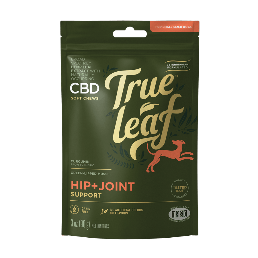 True Leaf™ Broad Spectrum Hemp Leaf CBD HIP + JOINT Support Chews