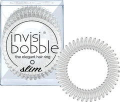Invisibobble Slim Crystal Clear Λαστιχάκια Μαλλιών 3 Τεμάχια