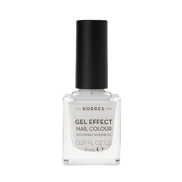 Korres Gel Effect Nail Colour 01 Blanc White-pharmacybay