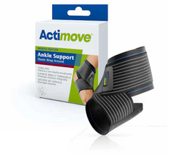 Actimove Ankle Support Elastic Wrap Around Black