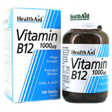 Health Aid Vitamin B12 (Cyanocobalamin) Tablets 50