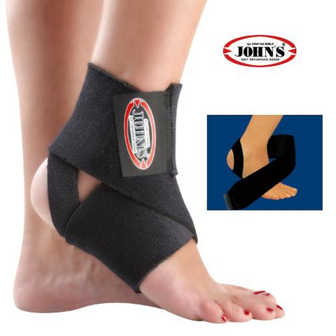John's Επιστραγαλίδα Ankle Bandage Black One Size Fits All 120214