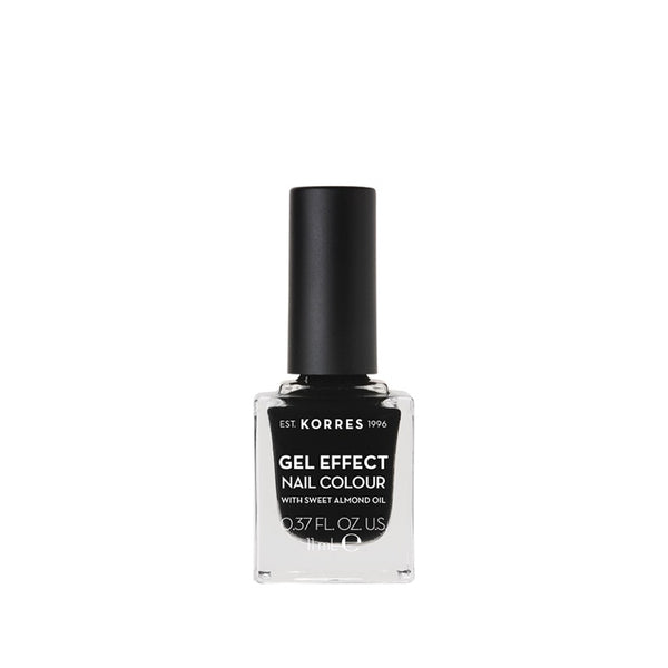 Korres Gel Effect Nail Colour 100 Black-pharmacybay
