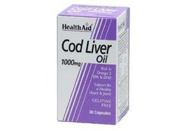 Health Aid Cod Liver Oil 1000mg 30 κάψουλες-pharmacybay