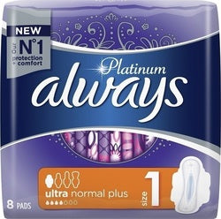 Always Platinum Ultra Normal Plus No1 Wings 8 Τεμάχια