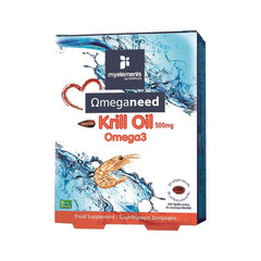 myelements Ωmeganeed Krill Oil Omega 3 500mg 30 μαλακές κάψουλες