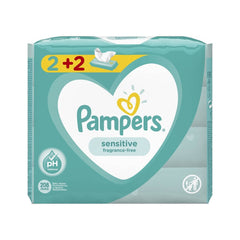 Pampers Promo Pack Μωρομάντηλα Pampers Sensitive Fragrance-Free 208 τεμάχια - 4x52 (2+2 Δώρο)
