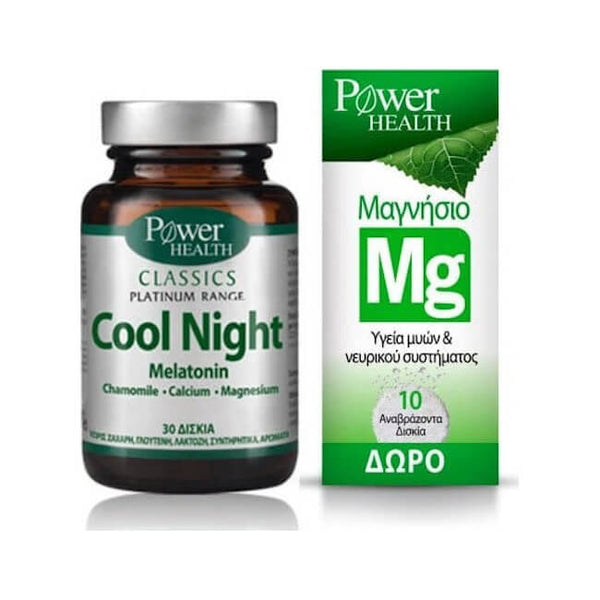Power Health Classics Platinum Cool Night 30 κάψουλες & Magnesium 220mg 10 αναβράζοντα δισκία