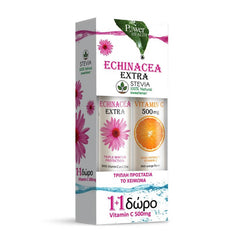 Power Health Echinacea Extra With Stevia 24 Effervescent Tablets & Δώρο Vitamin C 500mg 20 Effervescent Tablets