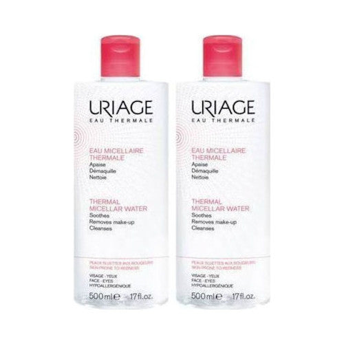Uriage Thermal Micellar Water for Sensitive Skin Sans Parfum 2x500ml