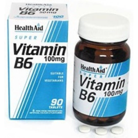 Health Aid Vitamin B6 Pyridoxine 100mg 90tabs