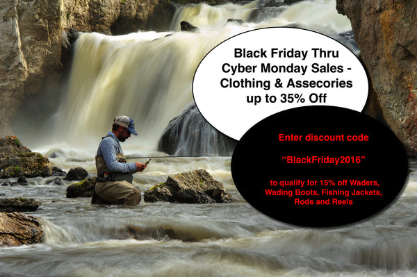 Black Friday and Cyber Monday Fly Fishing Sale