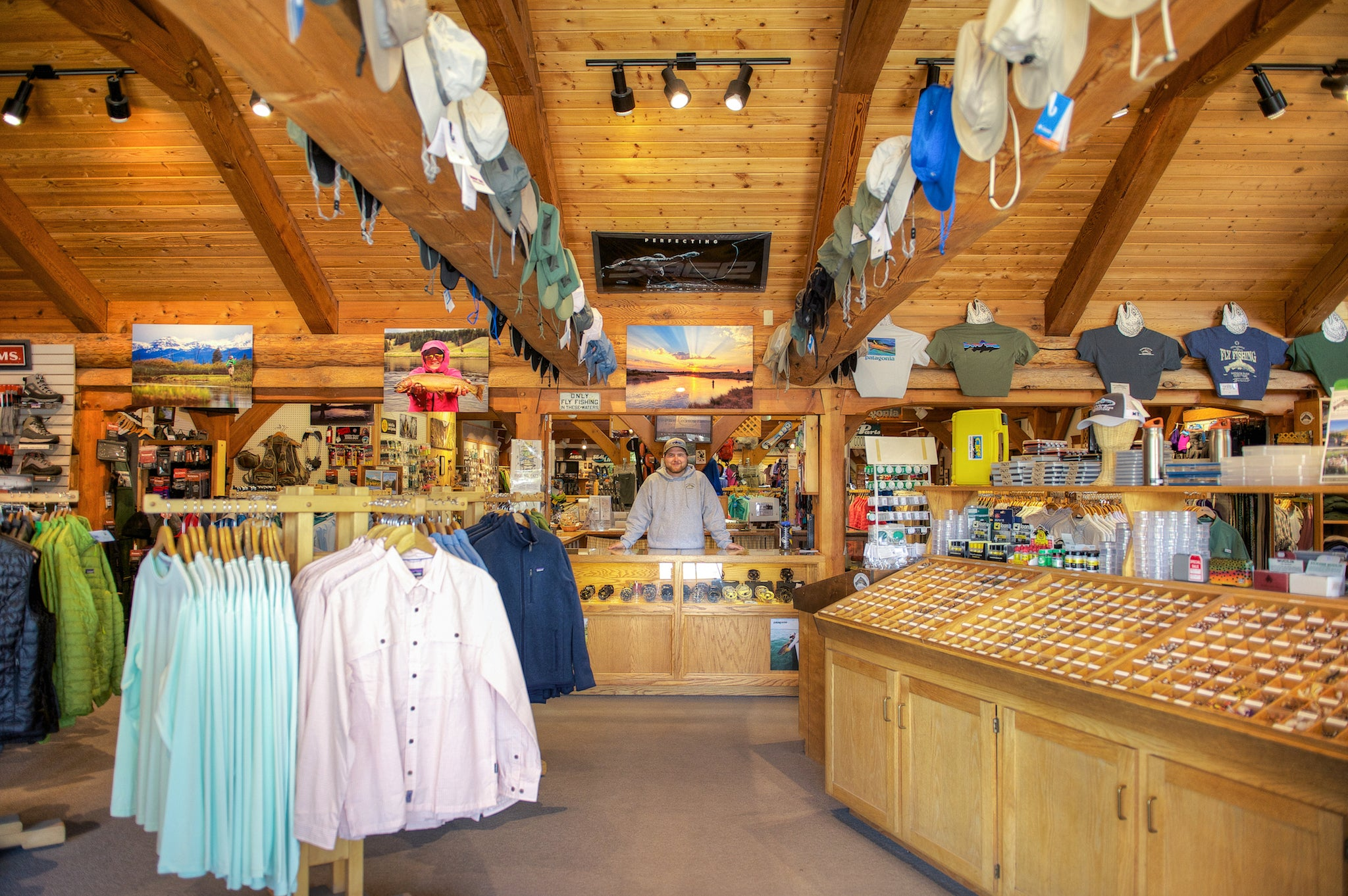 Entrance to Madison River Outfitters Fly Shop