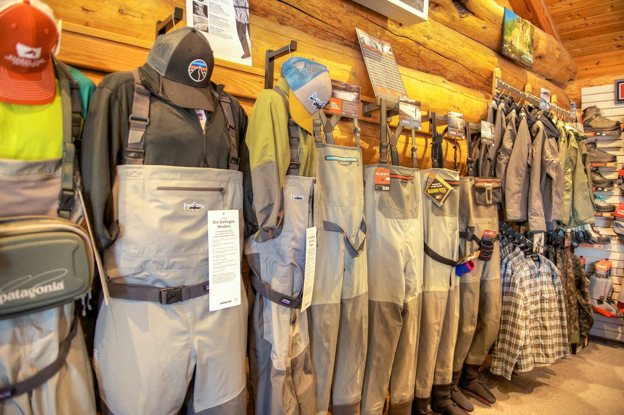 Madison River Outfitters Wader and Boots Selection