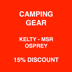 Holiday Sales on All Camping Gear 15% Discount