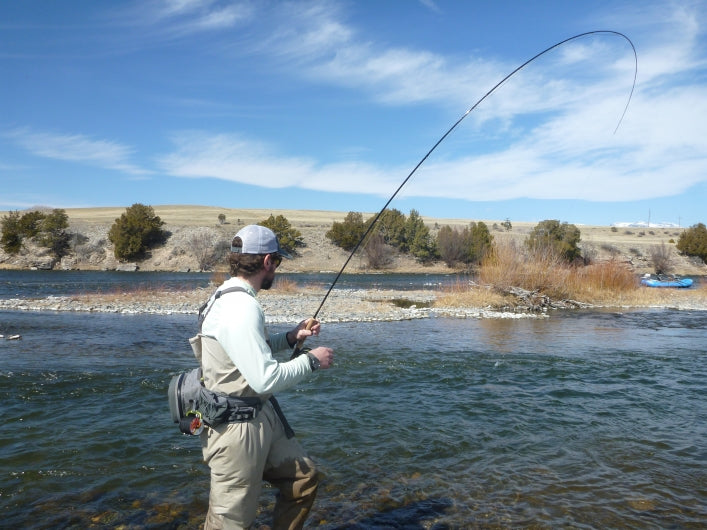 Madison River Outfitters Guide Jake Schilling Nymph Fishing on the Madison River Montana