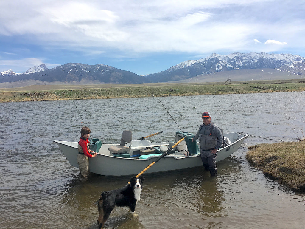 Spring fly fishing float on the Upper Madison River