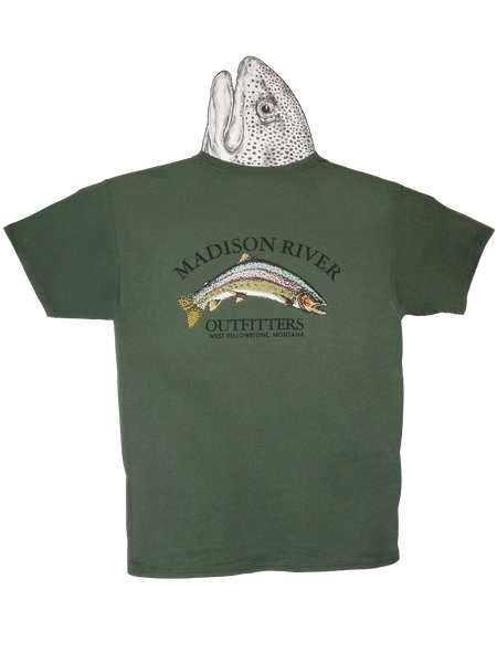 Fly fishing t shirts madison river outfitters for Fishing logo t shirts