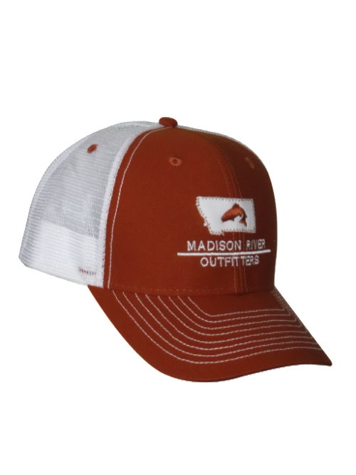 Hat 39 s madison river outfitters for Fishing logo hats
