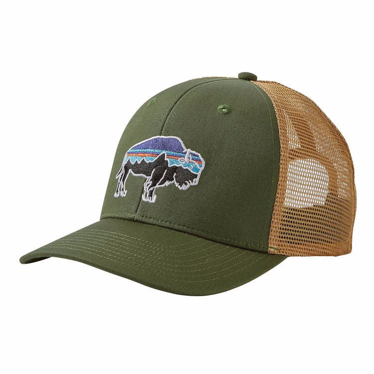 Patagonia fitz roy bison trucker hat madison river for Patagonia fly fishing hat