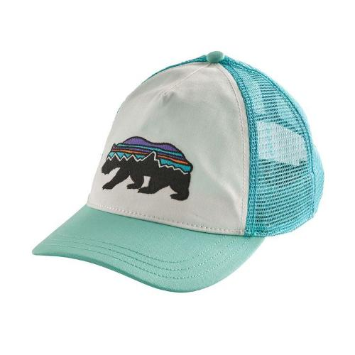 ... Patagonia Women s Fitz Roy Bear Layback Trucker Hat - White w Bend Blue  ... 665f5cf81c76