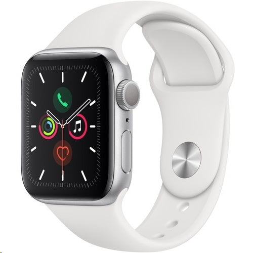 Apple Watch Series 5 40mm LTE White Sport Band Stainless Steel