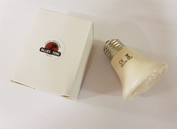 White 100 Watt Infra-Red Heat Element Bulb