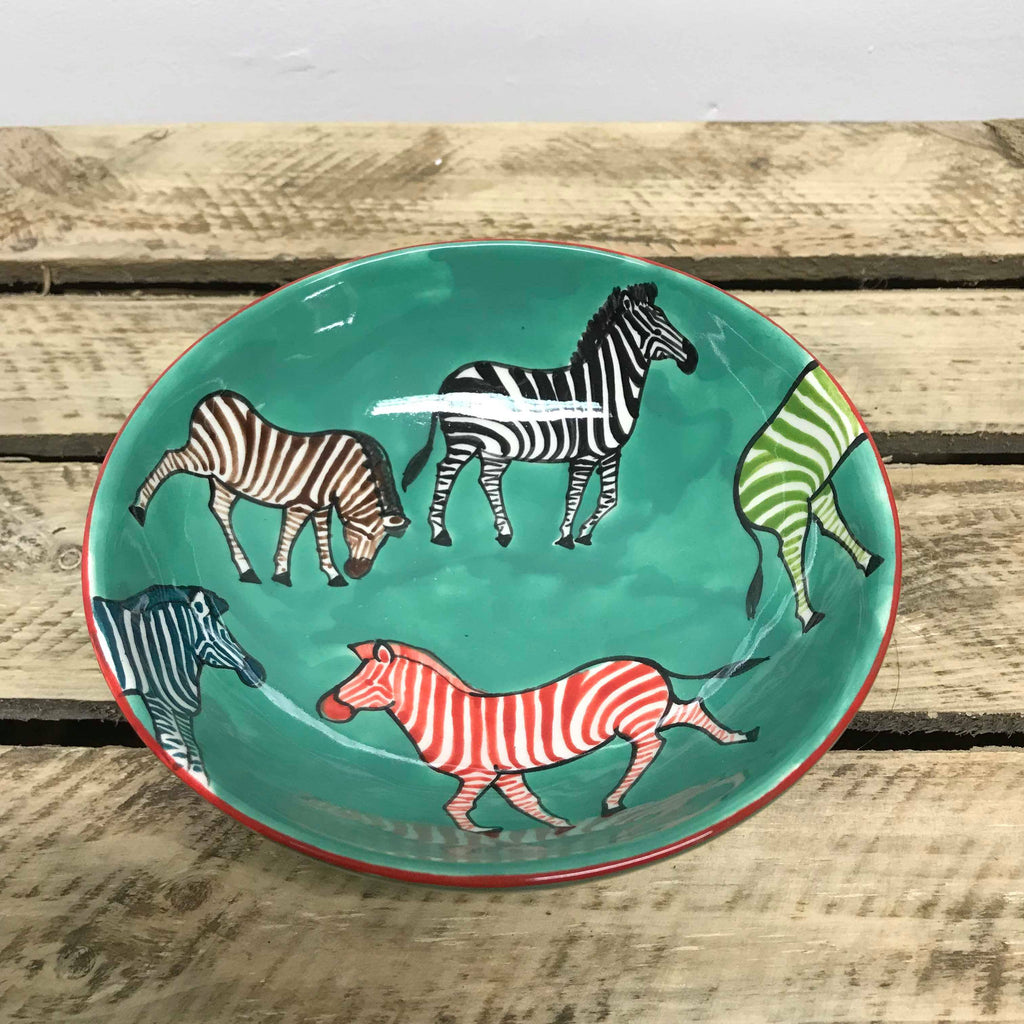 Hippo Studio's Green Zebra Rice Bowl