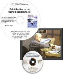 Painting the Sea in Watercolor Using Special Effects - Book-on-CD and Companion DVD - 30% Off