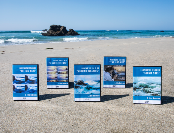DVD BUNDLE: Painting The Sea in Oil, Discs 1-5 - (DVDs+E-Book)