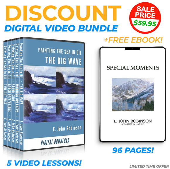 DIGITAL BUNDLE: Painting The Sea In Oil, all 5 videos plus FREE eBook