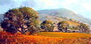 Image: Landscape Oil Series - Autumn Vineyards (digital version) featuring E. John Robinson