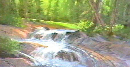 Image: Landscape Oil Series - Cascading Stream (digital version) featuring E. John Robinson