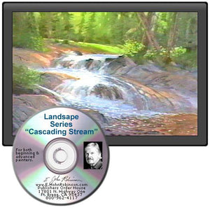 Image: Landscape Oil Series Cascading Stream DVD featuring E. John Robinson