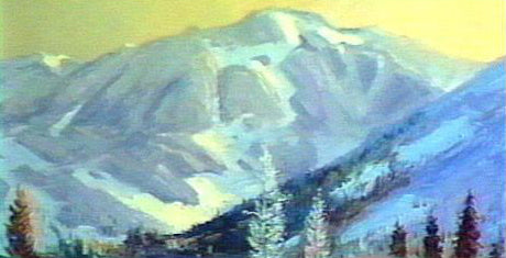 Image: Landscape Oil Series - Mountain Lake (digital version) featuring E. John Robinson