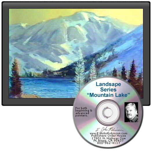Image: Landscape Oil Series Mountain Lake DVD featuring E. John Robinson