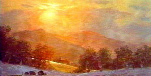 Image: Landscape Oil Series - Sunset Glow (digital version) featuring E. John Robinson