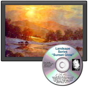 Image: Landscape Oil Series Sunset Glow DVD featuring E. John Robinson