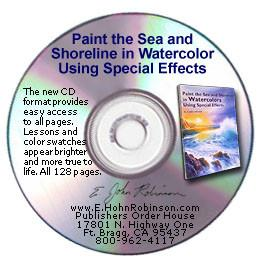 "Image: ""Paint the Sea and Shoreline in Watercolor Using Special Effects"" book-on-CD by E. John Robinson"