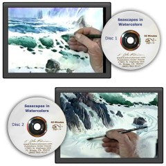 Seascapes in Watercolor 1 and 2 DVD