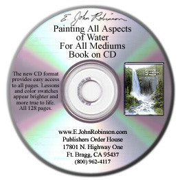 Painting All Aspects of Water for All Mediums Book-on-CD - 30% Off