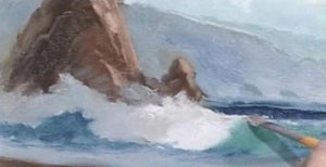 "Image: ""Painting the Sea in Oil - Beach Reflections"" (digital version) by E. John Robinson"