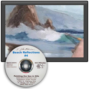 "Image: ""Painting the Sea in Oil - Beach Reflections"" DVD by E. John Robinson"