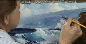 "Image: ""Painting the Sea in Oil - ""The Big Wave"" (digital version) by E. John Robinson"