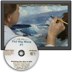 "Image: ""Painting the Sea in Oil - ""The Big Wave"" DVD by E. John Robinson"