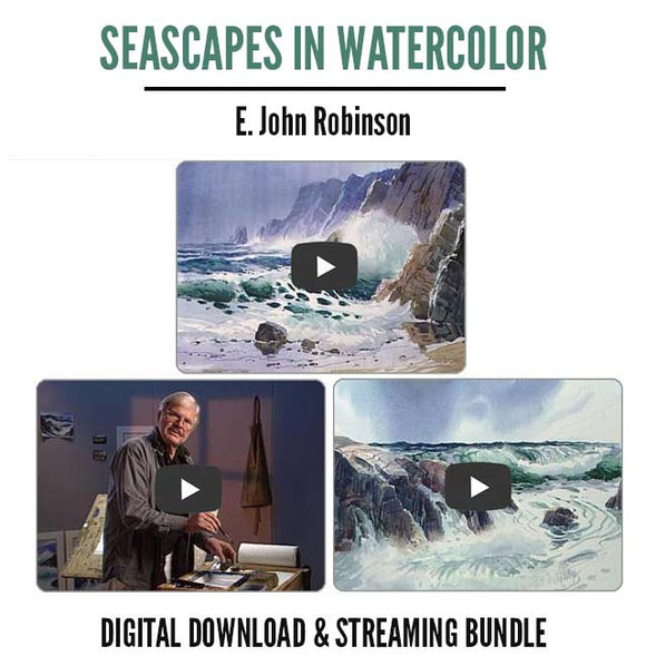 Seascapes In Watercolor - 3-Part Series + Follow-Along Ebook [Digital Download & Streaming]