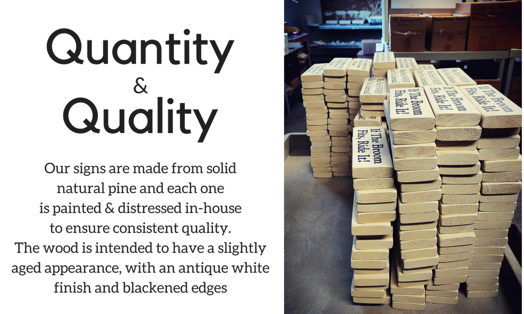 Wholesale quantities and qualities. About Knock on Wood wholesaler and distributor.