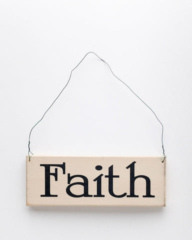 Faith wood sign with saying