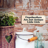 Grandmothers are Just Antique Little Girls wood sign with saying